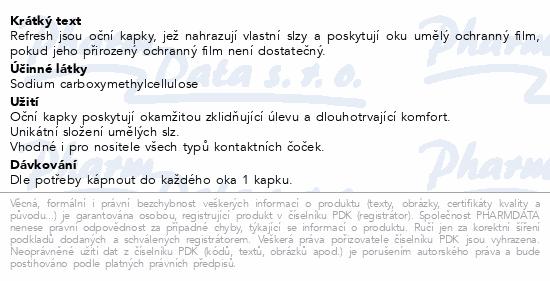 Informace o produktu Refresh oční kapky 15ml