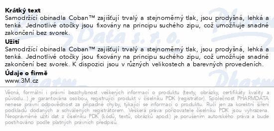 Informace o produktu 3M Coban elast.samofix.obin.7.5cmx4.5m 1ks červené