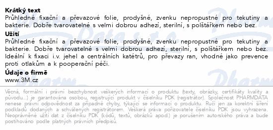 Informace o produktu 3M Tegaderm transp.převaz.fólie 6cmx7cm 100ks