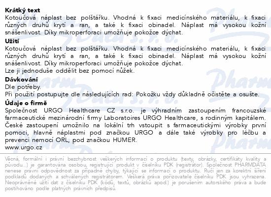 Informace o produktu URGO FILM Transparentní náplast 5mx2.5cm
