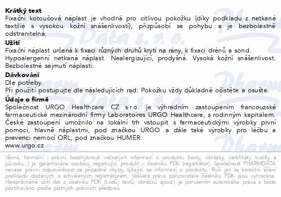 Informace o produktu URGO PORE Náplast netkaný textil 5mx2.5cm