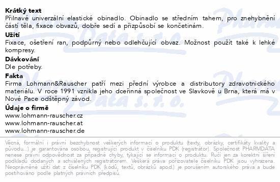 Informace o produktu Obin. elast.Lenkelast střední tah 6cmx5m/1ks