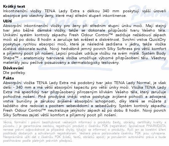Informace o produktu TENA Lady Extra ink.vložky 20ks 760506