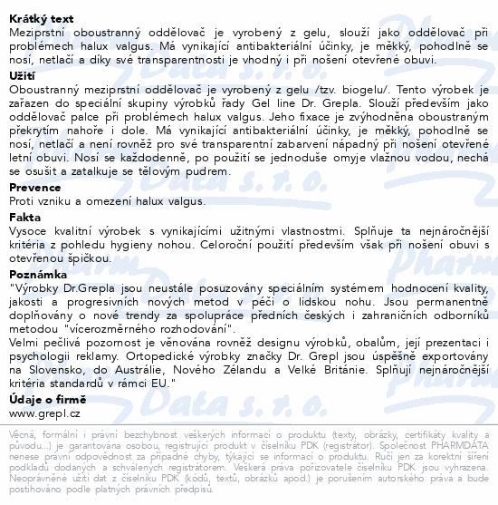 Informace o produktu DR.GREPL Korektor gelový oboustranný malý