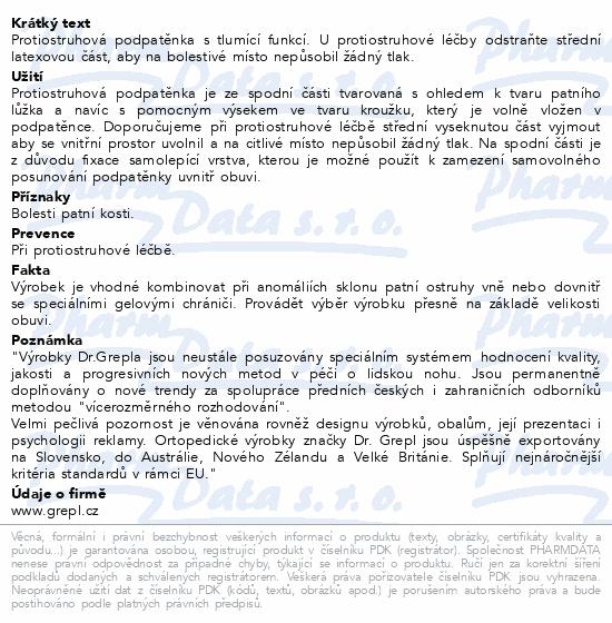 Informace o produktu DR.GREPL Podpatěnka na ostruhu vel.42-47