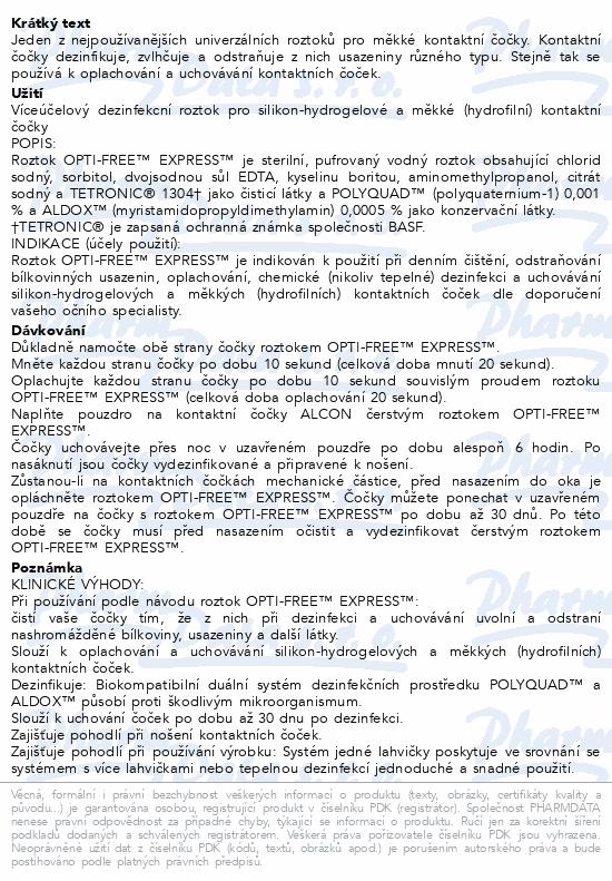 Informace o produktu Opti Free Express No rub lasting comfort 355ml