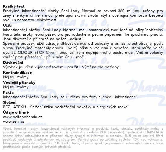 Informace o produktu Seni Lady Normal 20 ks inkont. vložky