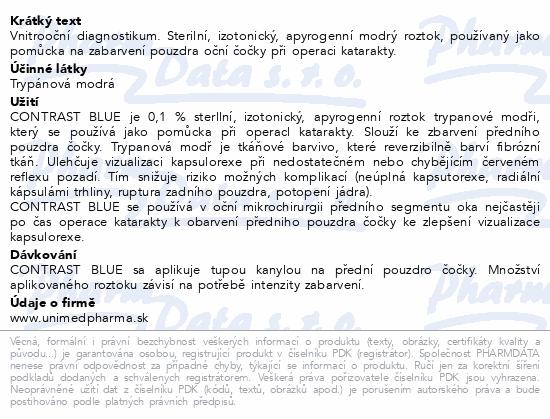 Informace o produktu Contrast Blue 1x0.5ml + 1xkanyla