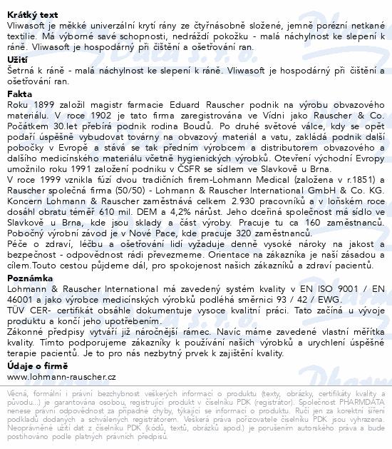 Informace o produktu Komprese Vliwasoft ster.10x10cm/4v 150ks netk.
