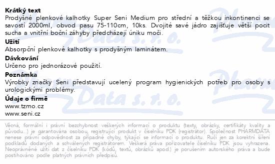 Informace o produktu Seni Super Medium 10 ks ink. plen. kalh.