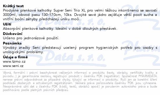 Informace o produktu Seni Super Trio Extra L 10ks inkon.plen.kalh.