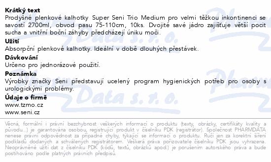 Informace o produktu Seni Super Trio Medium 10 ks ink. plen. kalh.