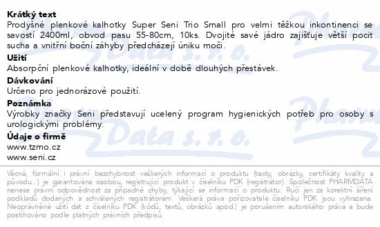 Informace o produktu Seni Super Trio Small 10 ks ink. plen. kalh.