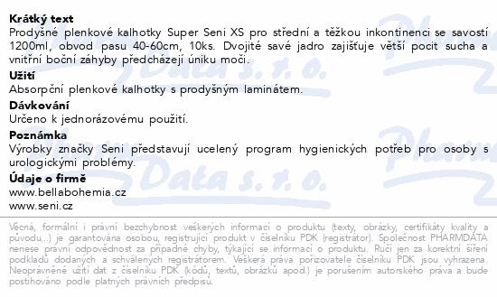 Informace o produktu Seni Super Extra Small 10 ks ink. plen. kalh.
