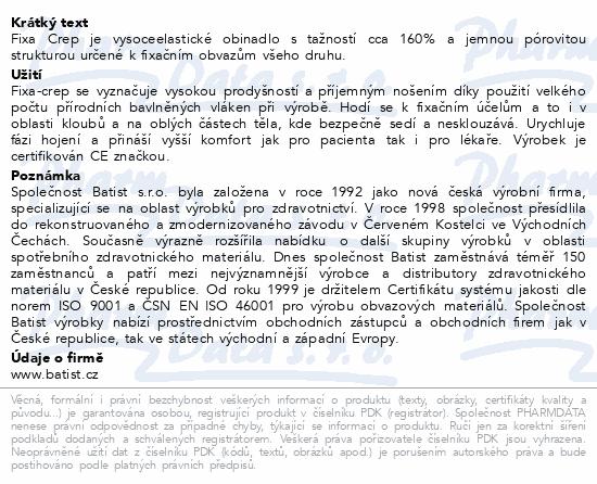 Informace o produktu Obin.fixační Fixa-Crep 6cmx4m nester.1ks Batist