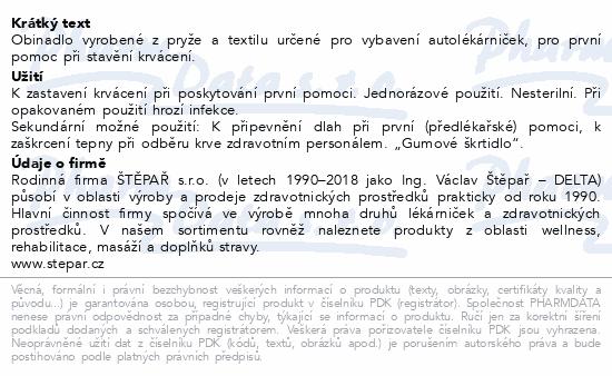 Informace o produktu Obinadlo škrtící do lékárniček délka 70cm