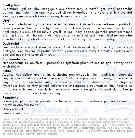 Informace o produktu Krytí Aquacel AG hydrofibre 5x5cm 10ks