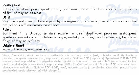 Informace o produktu ABENA Rukavice vyšetřovací Vinyl M pudrované 100ks