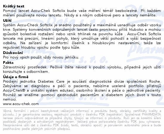 Informace o produktu Accu-Chek Softclix lancety 25ks