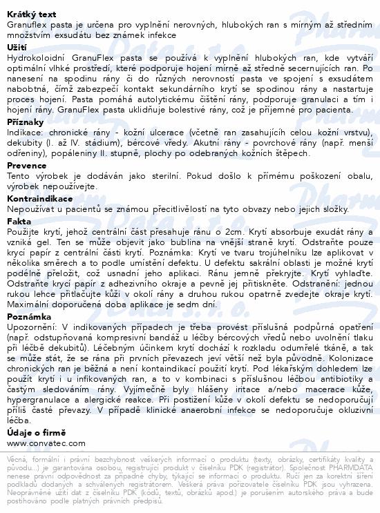 Informace o produktu Granuflex hydrokoloidní pasta 30g