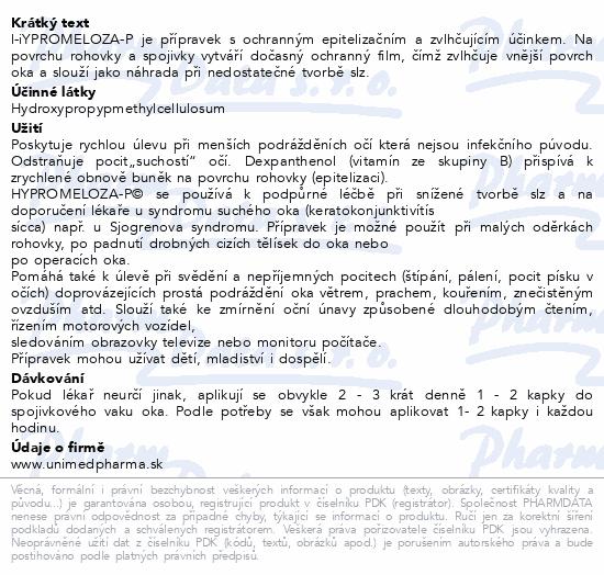Informace o produktu Hypromeloza-P 10ml