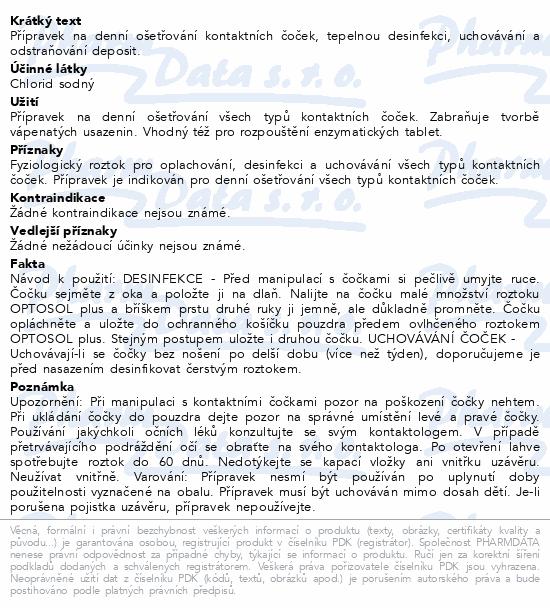 Informace o produktu OPTOSOL Plus 250ml