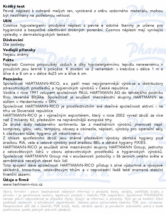 Informace o produktu Rychloobvaz COSMOS Pevná 1mx6cm