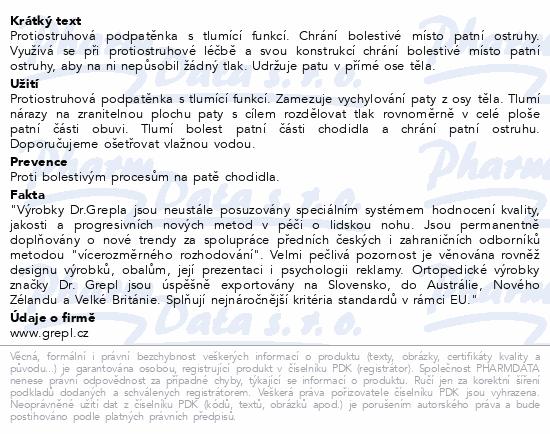 Informace o produktu DR.GREPL Podpatěnka ostruha Gel-line vel.41-47