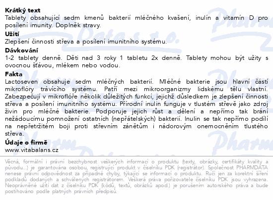 Informace o produktu LactoSeven 20 tablet