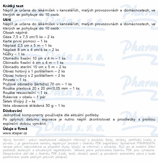 Informace o produktu Lékárnička - nástěnná-výměn.náplň ZM 10-10 osob