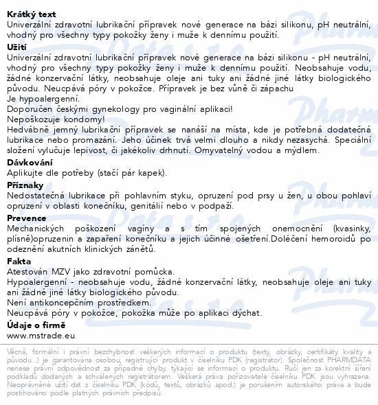 Informace o produktu GLIDE 4you 100ml zdrav.silikonový lubrikant