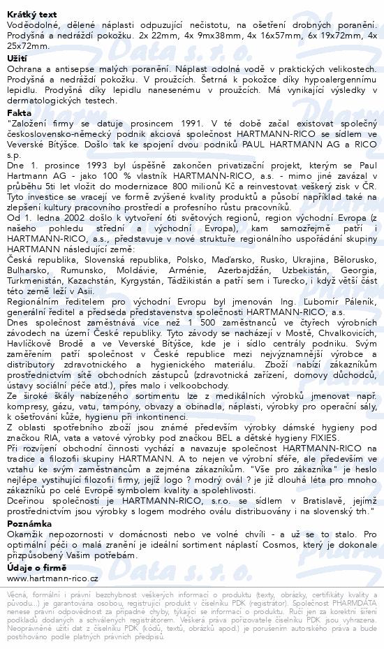 Informace o produktu Rychloobvaz COSMOS Voděodol.20ks/5vel.(Water-Res)