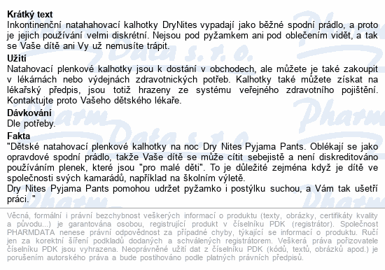 Informace o produktu HUGGIES DryNites kalh.abs.M 4-7/boys/17-30kg/10ks