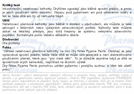 Informace o produktu HUGGIES DryNites kalh.abs.L 8-15/girls/27-57kg/9ks