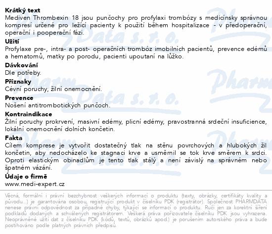Informace o produktu mediven Thrombexin 18 lýtková punč. vel.S bílá