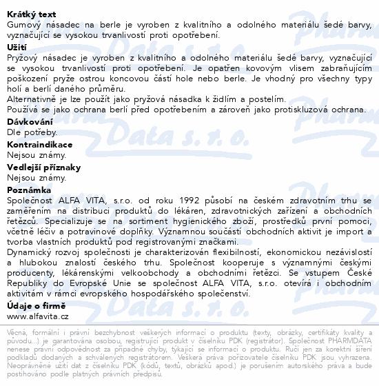 Informace o produktu Násadec na berle ALFA č.4 19mm