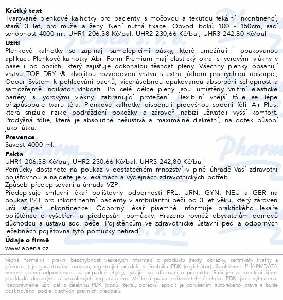 Informace o produktu Inkont.kalh. Abri Form Premium L4. 12ks