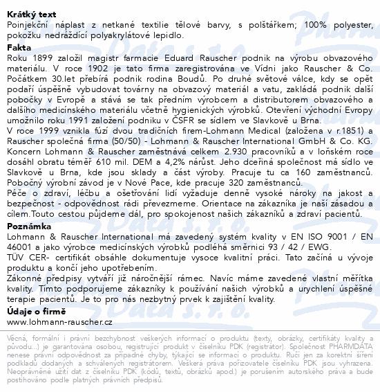 Informace o produktu Náplast poinjekční Curaplast sensitiv 2x4cm 250ks