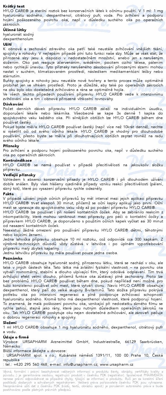 Informace o produktu Hylo Care 10 ml
