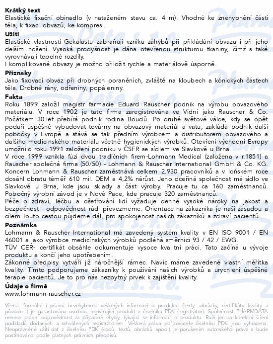 Informace o produktu Obin. elast.fix.Gekalast 8cmx4m/20ks