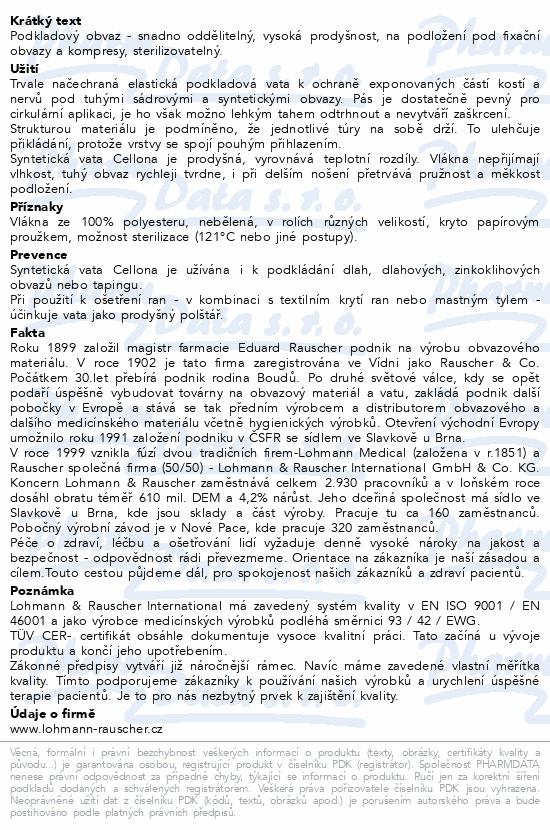 Informace o produktu Vata Cellona syntet. pod tuhé obvazy 6cmx3m 6ks