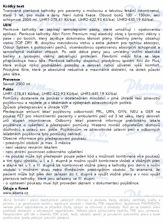 Informace o produktu Inkont.kalh. Abri Form Premium L1. 26ks