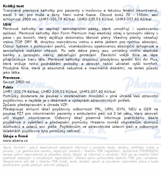 Informace o produktu Inkont.kalh. Abri Form Premium M3. 22ks
