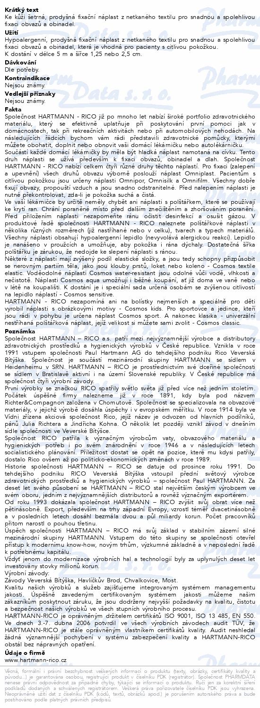 Informace o produktu Náplast COSMOS cívková jemná 1.25cmx5m 1ks