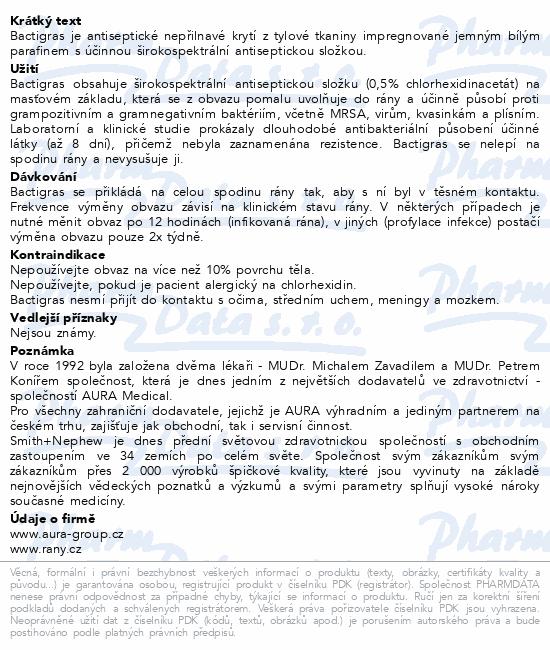 Informace o produktu Krytí Bactigras s Chlorhexid.acetate 5cmx5cm/50ks