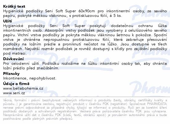 Informace o produktu Seni Soft Super 60 x 90 cm 5ks podložky absorpční
