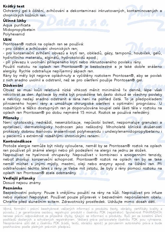 Informace o produktu B. Braun Prontosan Wound gel 30ml CENT 400516