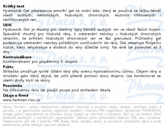 Informace o produktu Kompres Hydrosorb gel 15g 10ks