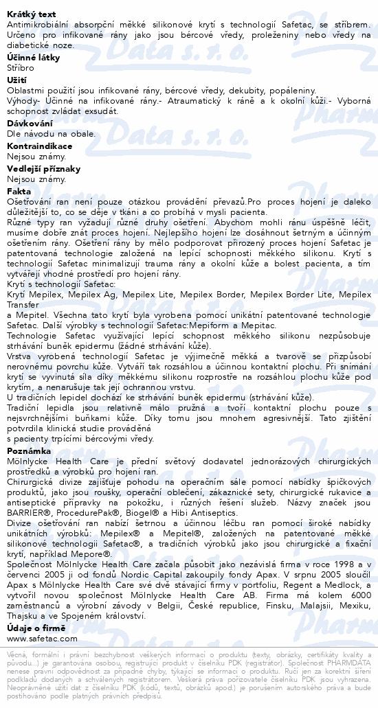 Informace o produktu Krytí Mepilex Ag. 10x10cm 5ks