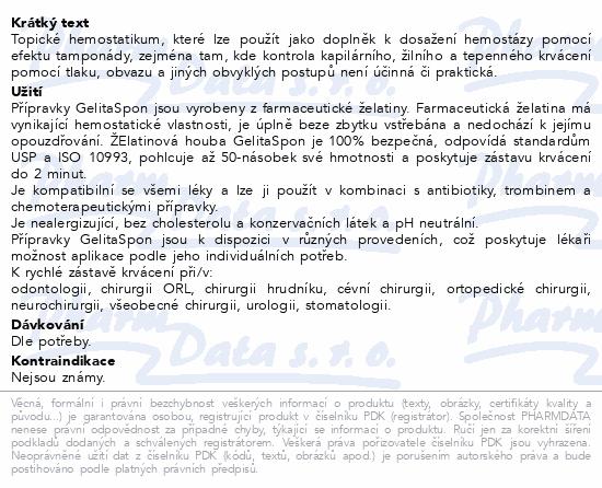 Informace o produktu Gelita-Spon Standard GS-010 80x50x10mm 10ks